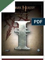 Dark Heresy Errata v3.0