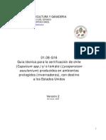 Guia Tecnica Para La Certificacion de Chile y Tomate a USA