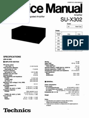 Technics Stereo System Manuals