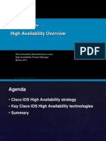 Cisco IOS™ High Availability Overview