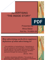 Advertising the Inside Story