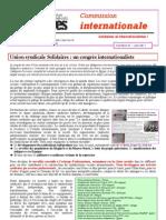 le numéro 37 du bulletin Solidaires international