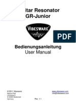 Vibesware Guitar Resonator GRJunior1 Bedienungsanleitung