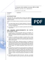 Rapport IDC-SAS Medias Sociaux / E-Reputation Juin 2011