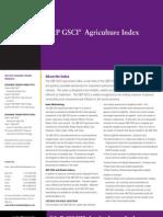 SP GSCI Agriculture Index Factsheet