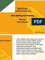 Panduan Press Release