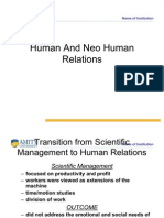 Human and Neo Human Relations