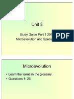 Unit 3 Study Guide Part 1 2011
