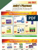 Landry's Pharmacy - July 2011 On Sale Flyer