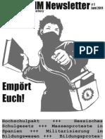 Freedumm Newsletter 1