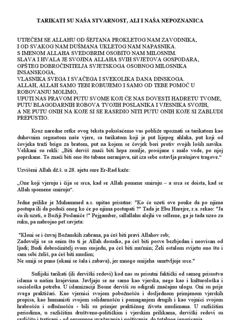 Upoznavanje savjeta muslimanskog čovjeka
