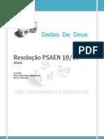 Resolução PSAEN 10-11 (Física) [ESCOLA NAVAL - EN]