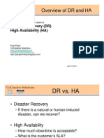 Disaster Recovery and High Availability, Overview of