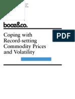 Commodity Prices Volatility Booz & Company