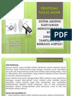 Proposal Tugas Akhir Sistem Absen Menggunakan RFID