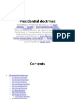 Presidential Doctrines