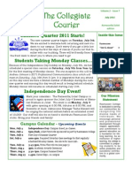 Collegiate Courier July 2011