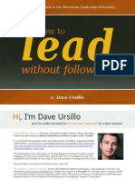 How to Lead Without Followers