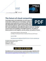 46418866 the Future of Cloud Computing