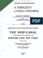 1908 - Duna-Tisza-csatorna tervezet