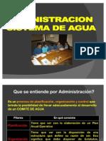 Admin is Trac Ion Del Sistema de Agua