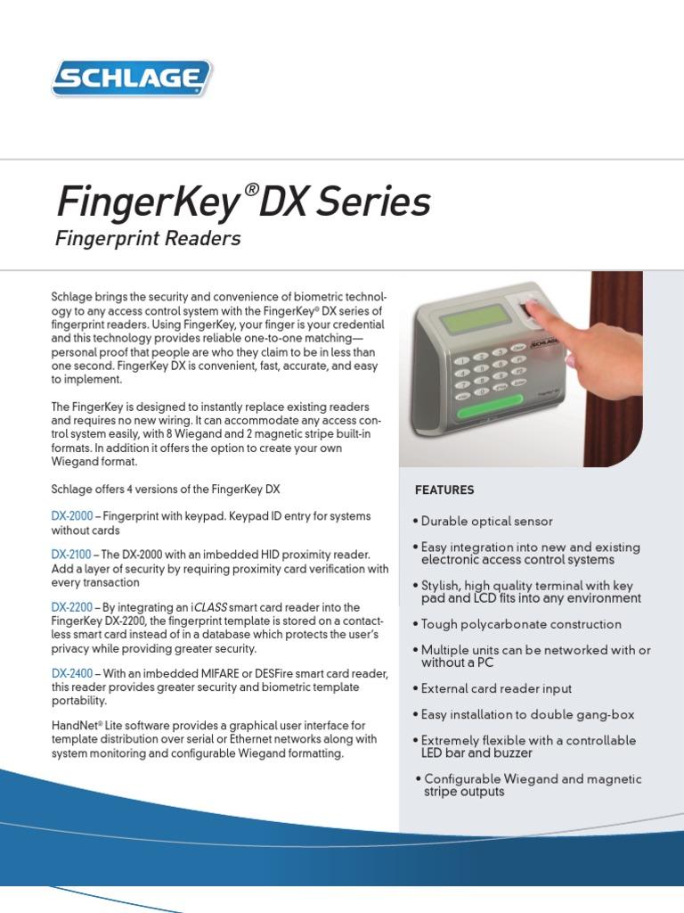 Fingerkey20DX | Access Control | Computer Networking