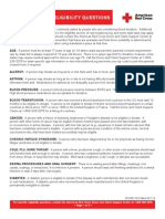 Donor Eligibility Guidelines New Version 2011