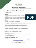 PROCESSO CONCLUÍDO > Vaga Alliage BH -  Analista de Produto e Peças de Mineração