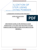 21956667 Cbse Xii Chemistry Project Sterilization of Water Using Bleaching Powder