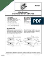 Datasheet Amplificador de Instrumentação