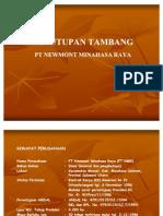Penutupan Tambang PT NMR