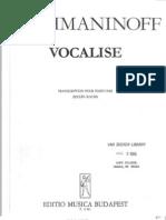 Rachmaninoff-Vocalise (Piano Solo)