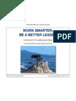 Work Smarter, Be a Better Leader Ebookette