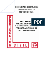 GUIA TECNICA PARA LA REALIZACION E IMPLEMENTACION DE UN PROGRAMA INTERNO DE PROTECCION CIVIL