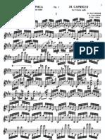 Paganini - 24 Capricci Op.1 Per Violino Solo a.yampolsky