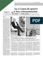 """Zerolo acusa a Cepsa de querer """"tapar"""" que hay contaminación (08-08-09)"""