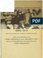 Reinfeld&Fine_Lasker's Greatest Chess Games