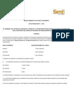 Convocatoria Becas-Comisón y/o apoyo económico.  Ciclo escolar 2011-2012