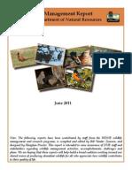 June Issue Wisconsin Wildlife Management Bi-Monthly Report