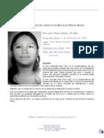 Reseña Caso Ana Luisa Pereira Ramos