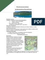 Ficha de recursos turísticos Picos de Europa