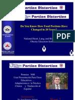 Distorsión de la porción  ,  Traducción  de una  Charla  del NIH ( Portion Distortion)