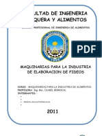 MAQUINARIAS -Elaboracion de Fideos
