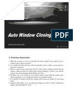 Auto Window Closing Module
