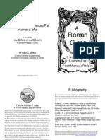 Roman Menu Booklet