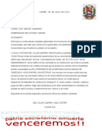 Carta Al General Garcia Carneiro Dolly