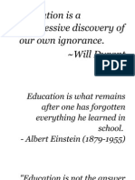 Qoutes for Education