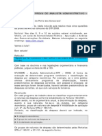 Resolução da prova de AFO do STF 2008