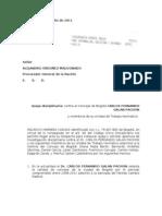 Queja Disciplinaria Dr Carlos Fernando Galan