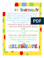 Ways to Celebrate Birthdays